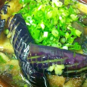 簡単!!麺つゆで揚げ茄子の煮びたし