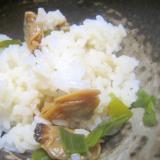 生姜と味醂醤油の浅利御飯グリル