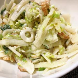 白菜と大根とちくわのサラダ
