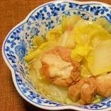 白菜と油麩の煮物