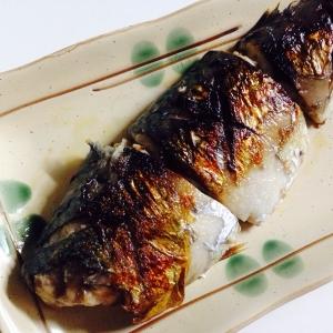 フライパンで焼き魚(鯖)