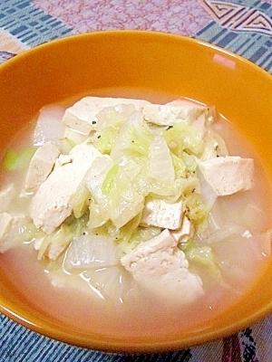 白菜と豆腐の炒め煮(白菜炖豆腐)