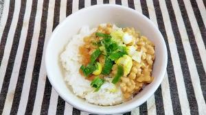 納豆ご飯&ゴマ油