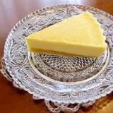 ホワイトチョコの香り豊かなチーズケーキ