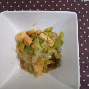 レモン塩麹鶏とレタスの炒めもの