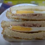 簡単!レンチン目玉焼きでサンドイッチ!