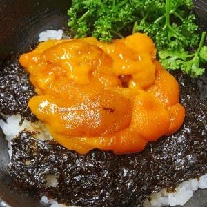 究極の海鮮丼☆ 「自家製塩ウニ岩海苔丼」