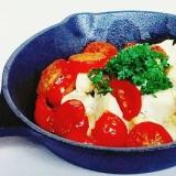 【Otofu Soboro】とミニトマトのグリル