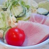 エコ野菜、豆苗の簡単コクうまサラダ♪