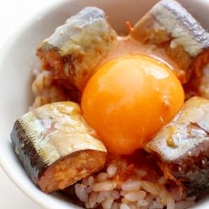 【簡単・夜食】山椒が香るサンマ味噌煮缶のミニ丼