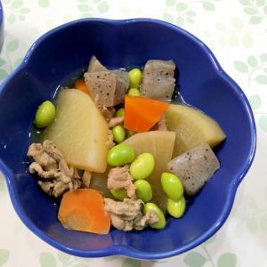 レンジで時短☆大根と豚肉の煮物