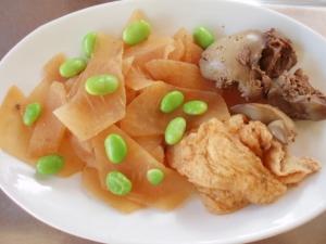 鶏レバーと大根の煮物
