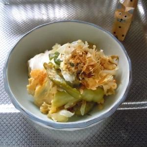 たっぷり万願寺唐辛子で簡単お豆腐チャンプルー