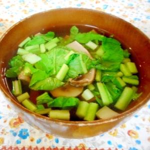 マッシュルームの和風スープ