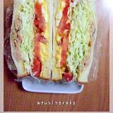 たまごサラダ・トマト・キャベ千・ツナマヨのサンド