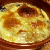 モッツァレラチーズと茄子の味噌グラタン