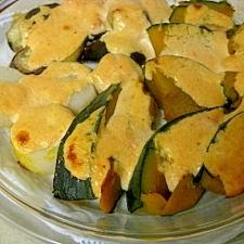 温野菜のたらこマヨネーズ焼き♪