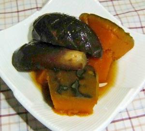 かぼちゃと茄子のとろとろ柔らかい煮物