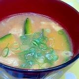 かぼちゃ&玉ねぎの味噌汁