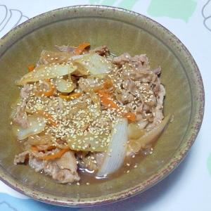 豚と玉ねぎの甘辛生姜煮++