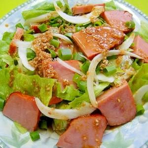 焼き豚とレタスのサラダ