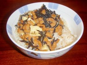 鉄分補給★ひじきチーズ納豆