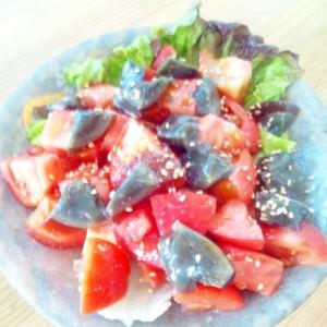彩り☆たっぷりトマトとピータンサラダ