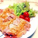 豚ロース肉で!トンテキのシャリアピンソース風♪