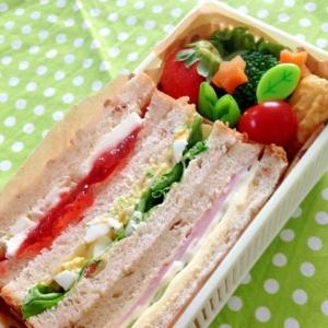遠足に☆サンドイッチ3種のお弁当♪
