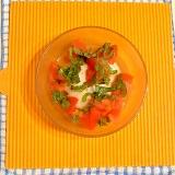 トマトのせピーナツ豆腐♪