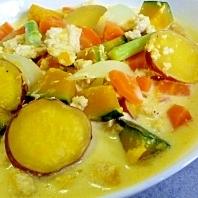 超簡単☆たっぷり根菜と鶏ひき肉のクリーム煮