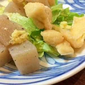 板コンと薄あげのゴマ塩サラダ