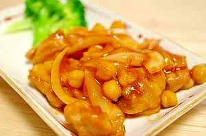 鶏肉のバーベキュー炒め