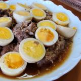 牛切り出し肉と卵の煮込み