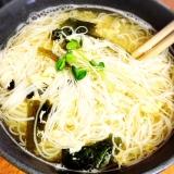 ♡玉子&ワカメの簡単にゅー麺(体調不良に)♡