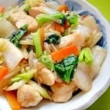 白菜と鶏むね肉、小松菜のうま煮