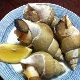 焼きつぶ貝のごま油風味