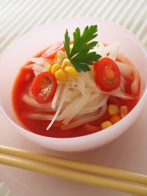 冷製トマトスープうどん