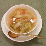 豚肉ゆで汁でキャベツとにんじん玉ねぎの簡単スープ