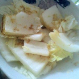さっぱりヘルシー☆白菜のおかかみょうが和え