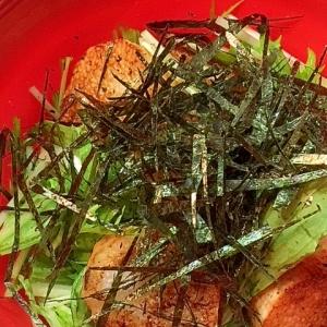 シャキシャキ!長芋と水菜のサラダ