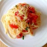 フレッシュトマトと大葉の簡単スパゲティ