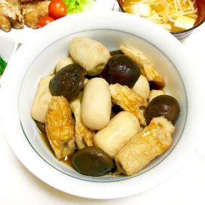 冷凍里芋と小ぶり椎茸と竹輪の味しみしみ煮♡
