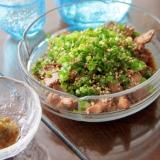 砂肝を使って博多のおつまみ『酢もつ』