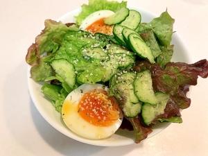 イタリアン仕上げ☆サニーレタスと半熟卵のサラダ