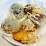 ホクホク美味しい☆さつまいもと椎茸の天ぷら