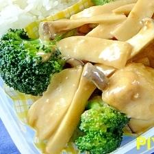 鶏ムネ肉のまろやかオイマヨ炒め