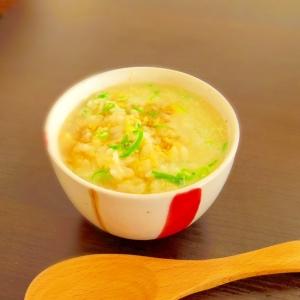寒い朝にどうぞ★鶏と生姜の和風とろみ雑炊