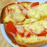 トマトとチーズたっぷりトースト
