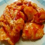 鶏むね肉のトマトケチャップ酢炒め